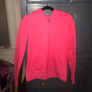 Under armour bright pink hoodie